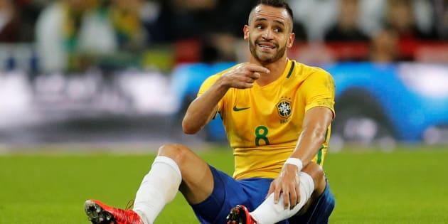 Soccer Football - International Friendly - England vs Brazil - Wembley Stadium, London, Britain - November 14, 2017   Brazil?s Renato Augusto reacts   REUTERS/Darren Staples