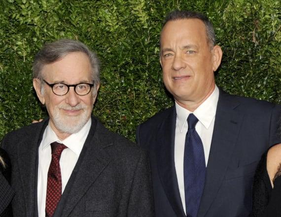 Hanks, Spielberg attend WashPo meeting
