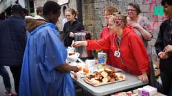 Une semaine après l'évacuation des migrants, 400 petits-déjeuners sont déjà distribués porte de La