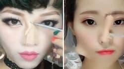 En matière de maquillage, ces femmes vont très loin pour changer de