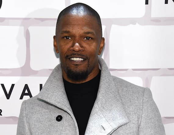Katie Holmes attends Jamie Foxx's 50th birthday fete