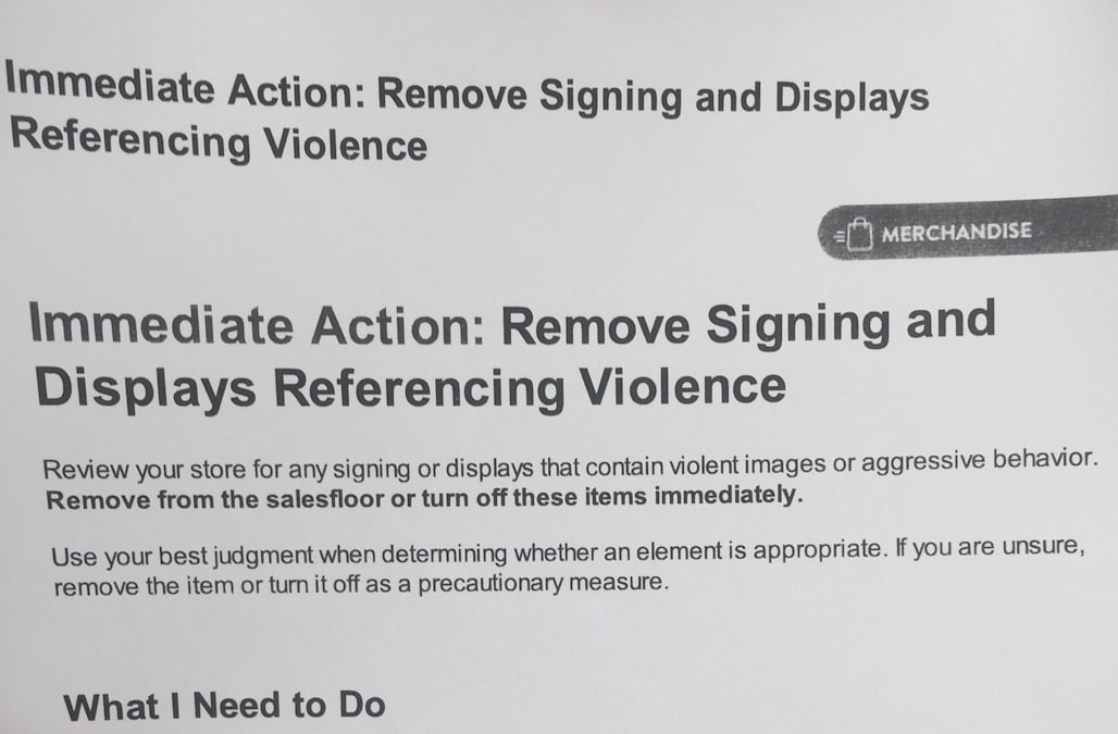 Walmart Call In Number >> Walmart Sent A Memo To Employees To Take Down Violent Images