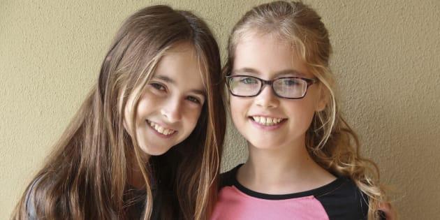 Bella and Olivia (right).