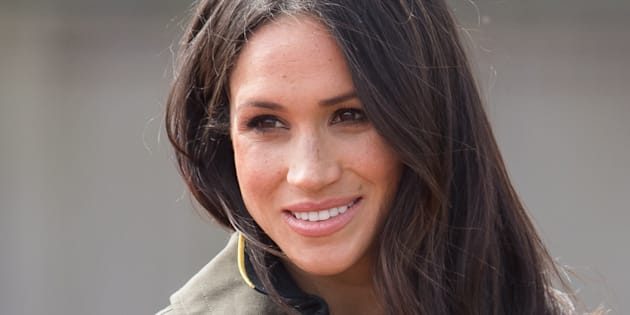 Meghan Markle at the University of Bath on April 6, 2018 in Bath, England.