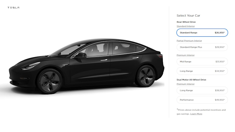 The Long Awaited Base Version Of Tesla Model 3 Was Announced Today Complete With 35 000 Asking Price Originally Promised By Elon Musk When Car