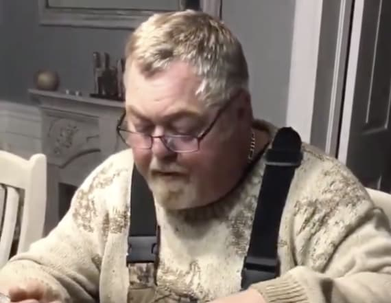 Man divides internet with spaghetti eating technique