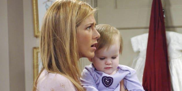 """Pour les deux dernières saisons de la série """"Friends"""", les jumelles Sheldon ont interprété Emma, la fille de Rachel et Ross."""
