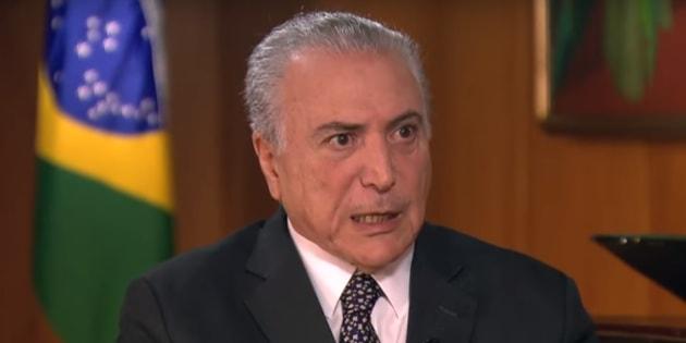 Presidente Michel Temer em entrevista ao Programa do Ratinho, no SBT.