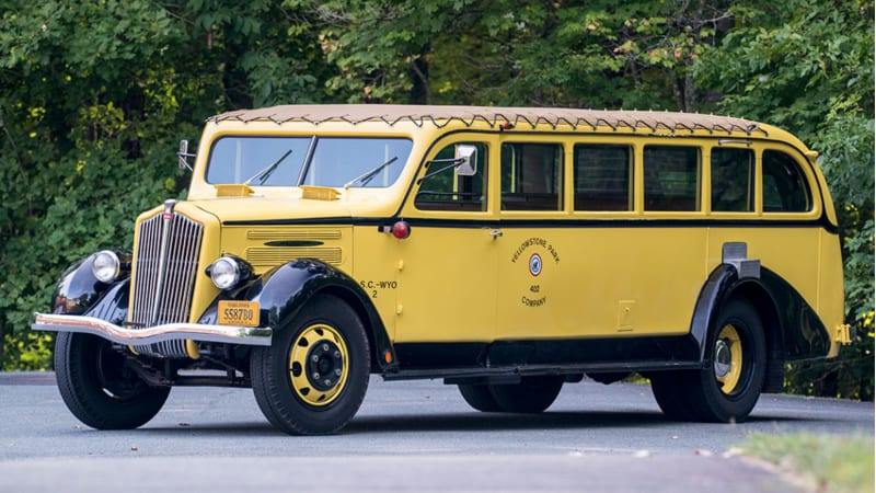 For sale: This 1937 Yellowstone tour bus is the ultimate party cruiser