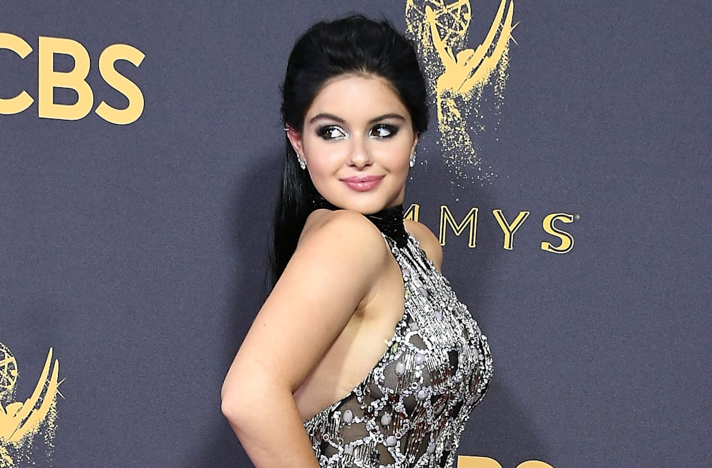 be13bc4f63a24b Ariel Winter flashes under boob in ripped crop top that leaves little to  the imagination