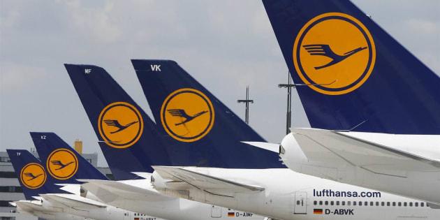 Aviones de la compañía alemana Lufthansa, en una imagen de archivo.