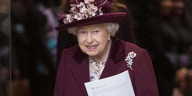 Queen Elizabeth II at the 2018 Commonwealth Day service at Westminster Abbey on March 12, 2018.