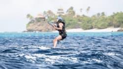 Pendant ce temps, Obama fait du kitesurf avec Richard