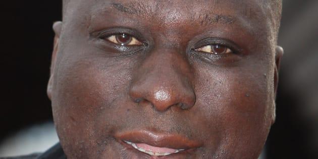 """Mouss Diouf lors de l'avant-première du film d'animation """"Ratatouille"""" en 2007 à Paris."""