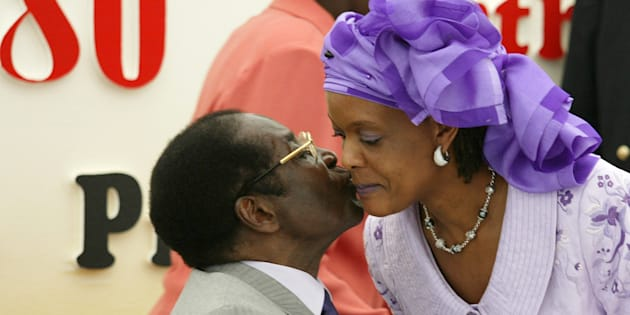 Robert Mugabe and his wife Grace.
