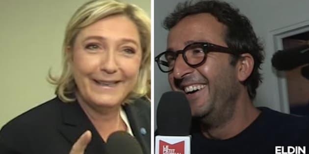 Tiens, Marine Le Pen s'est mise à tutoyer Cyrille Eldin...
