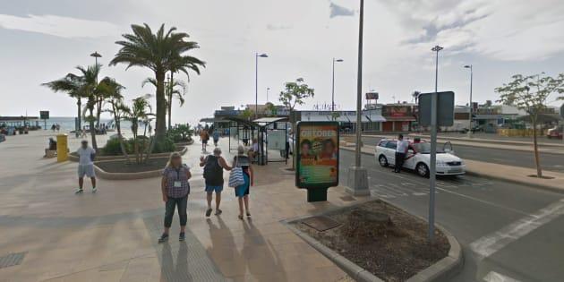 Imagen de la zona comercial donde se han producido los hechos, en la Playa del Inglés.