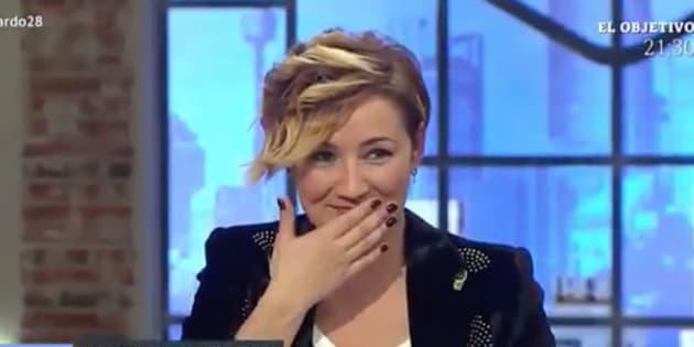 Cristina Pardo, en un momento de apuro en 'Liarla Pardo'