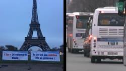300 cars devant la tour Eiffel pour protester contre la politique