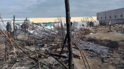 Inferno di fuoco in tendopoli, muore giovane
