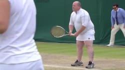 Ce spectateur de Wimbledon ne s'attendait pas à jouer dans cette
