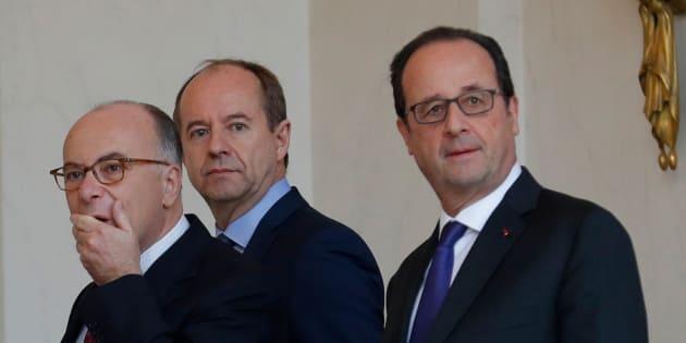 Francois Hollande, Manuel Valls, Jean-Jacquse Urvoas et Bernard Cazeneuve à l'Elysée le 23 novembre 2016. REUTERS/Philippe Wojazer