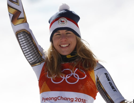 Ledecka shocks crowd in gold medal Super-G run
