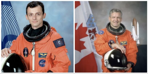Duque (izq) y Garneau (der) en sendas fotos de archivo.
