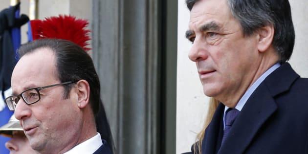 """François Hollande accusé par François Fillon d'être l'instigateur de toutes les poursuites judiciaires dont il est la cible au travers d'un """"cabinet noir""""."""