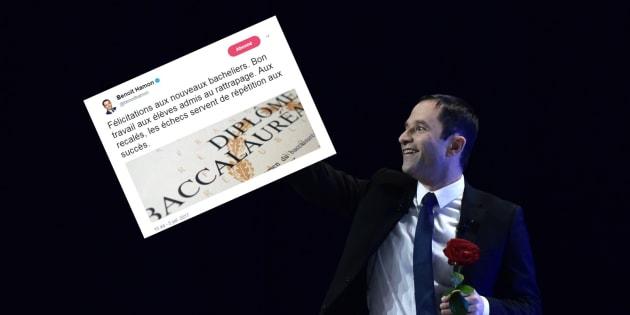 Le clin d'oeil très politique de Benoît Hamon aux recalés du baccalauréat.