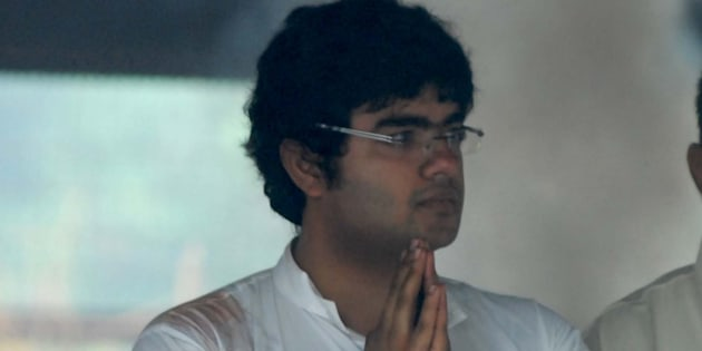 Priyanka Chopra's brother Siddharth during the funeral of her father Ashok Chopra on 10 June 2013.