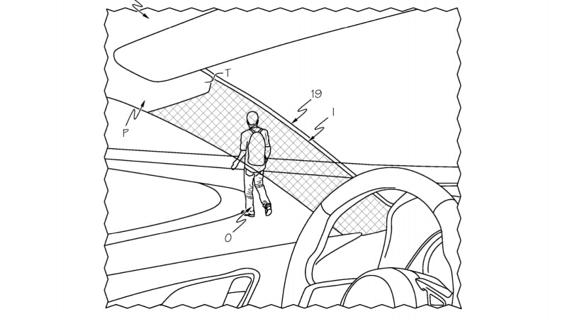 Toyota patents an A-pillar you can see through