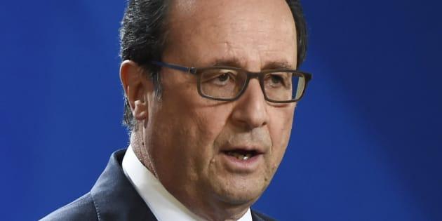 François Hollande en conférence de presse le 20 octobre 2016 à Bruxelles.
