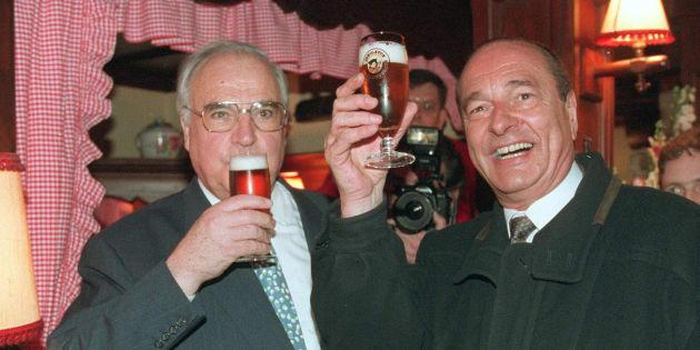 Jacques Chirac et Helmut Kohl ont inauguré les rendez-vous bilatéraux de début de mandat.