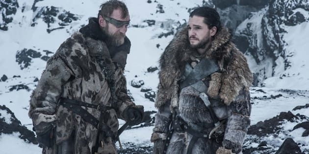 "Kit Harington et Kristofer Hivju dans la série ""Game of Thrones"""