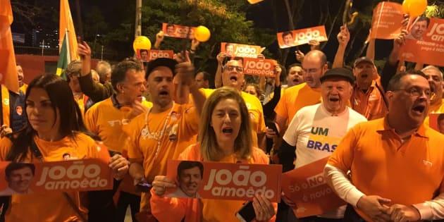 Militantes do Novo se queixam de ausência de João Amoêdo do debate da Band.