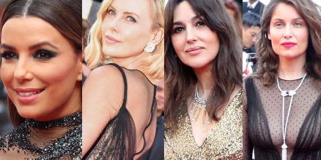 Uma Thurman, Eva Longoria, Charlize Theron, Monica Bellucci et Laetitia Casta