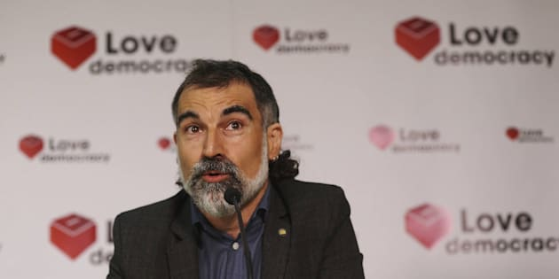 Jordi Cuixart, presidente de Òmnium Cultural, en una imagen de archivo.