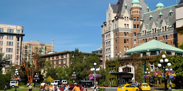 A part of the Fairmont Empress Hotel and surroundings, in Victoria, B.C. The city has been named the world's hottest luxury market for 2017 by Christie's.