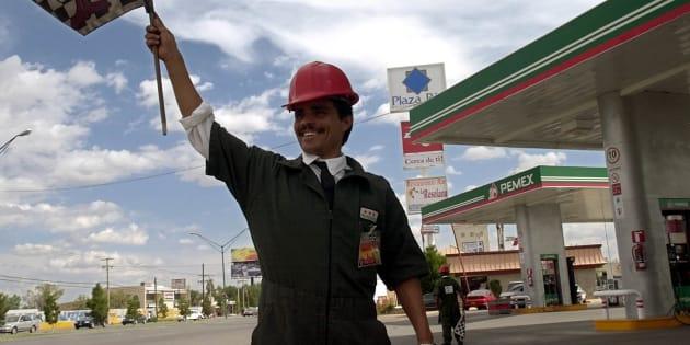 Estación de servicio de Pemex en Ciudad Juárez, Chihuahua.