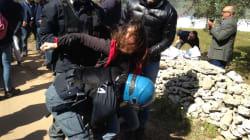 La polizia forza il sit-in contro il Gasdotto in