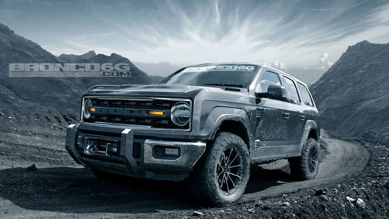 2020 Ford Bronco rendered with four doors - Autoblog