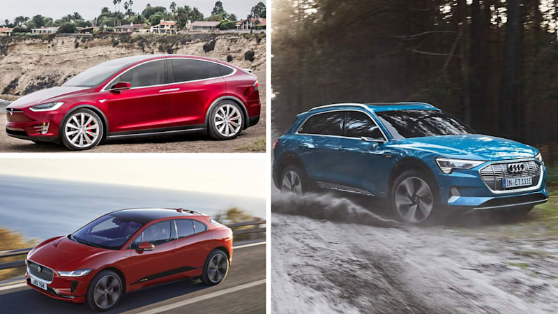 Electric Crossover Comparison Audi E Tron Vs Jaguar I Pace And