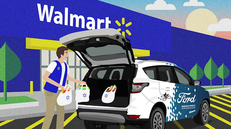 Ford, Walmart, Postmates work on autonomous customer deliveries
