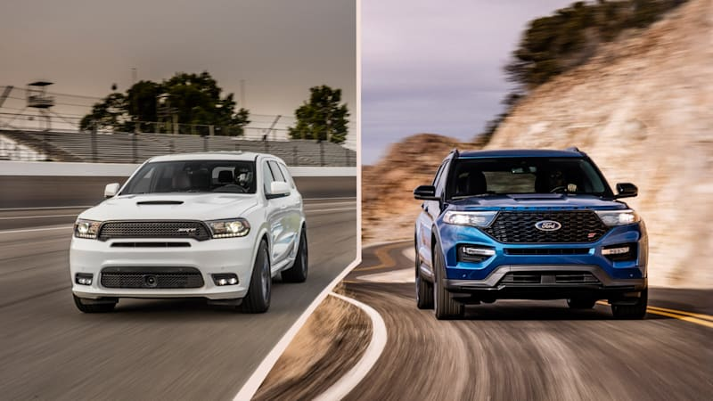 The Dodge Durango Srt Has Been Sole Three Row Performance Crossover From A Non Luxury Brand That All Changes Now 2020 Ford Explorer St Is