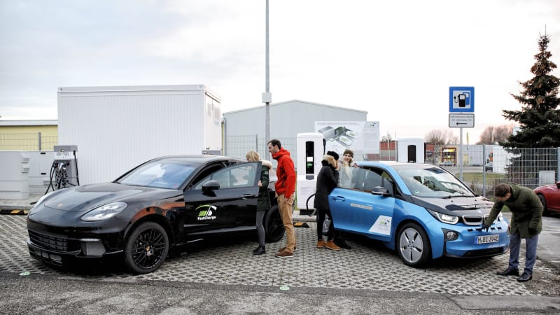 BMW and Porsche demonstrate 450kW ultra-fast charger