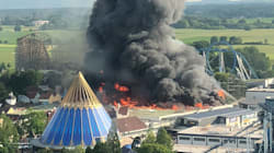 Horrific Videos Show Massive Fire At Europa Theme Park In