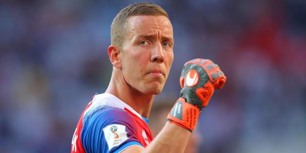 Hannes Halldórsson, durante el partido de Islandia ante Argentina.
