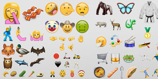 Mockups for every emoji coming in June, showing how Emojipedia thinks they may look.