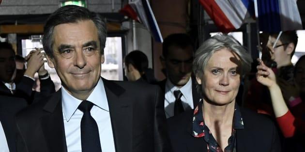 François Fillon et Pénélope Fillon lors d'un meeting le 29 janvier.